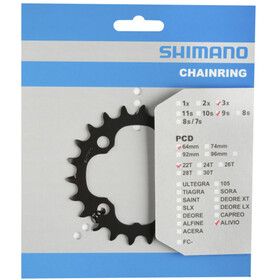 Shimano FC-M4000/M4050 Klinge 9-speed, grey